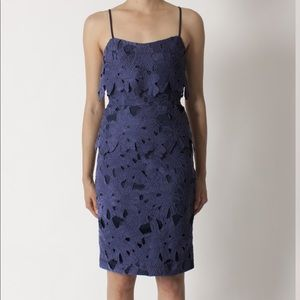 Black Halo Ora Lace Dress in Navy